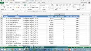Calendar Year Quarters Grouping Pivottable Data Into Fiscal Quarters