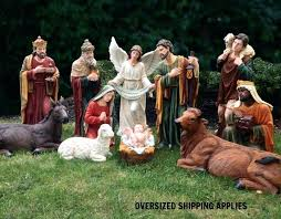 church clerical statuary nativity sets set indoor or outdoor figures costco 2016 shepherd with sheep nativity figures outdoor scene yard new wood