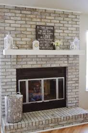 we also replaced all the old brown trim surrounding the fireplace with a thin white trim i ll be showing you how simple all that is to change in the next