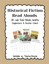 Historical Fiction Anchor Chart Historical Fiction Read Alouds With Qr Codes