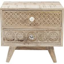 authentic mango wood look bedside table