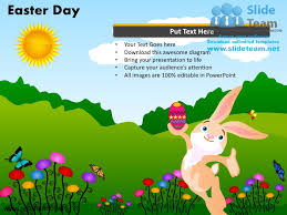 Rabbit Happy Easter Day Powerpoint Templates