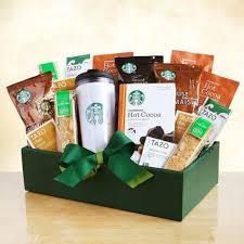 the starbucks clic gift basket