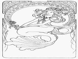 Small Picture Difficult Mermaid Coloring Pages Coloring Coloring Pages