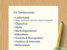Modern Necessary Components Of A Resume How To Write A Cv Or Curriculum Vitae With Free Sample Cv
