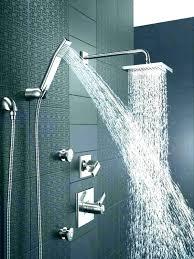 delta 2in1 shower head shower heads delta combo shower head delta rain shower head double square