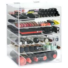... Acrylic Makeup Organizer Drawers Kardashians Large For Sale Clear Cube  With 5