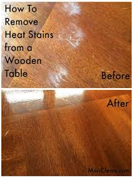 How To Remove Heat Stains from a Wooden Table