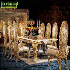 Italian wood furniture Italian Style Italy Luxury Gold Wood Carving Dining Table Set Furniture 1107 Incollect Italy Luxury Gold Wood Carving Dining Table Set Furniture 1107