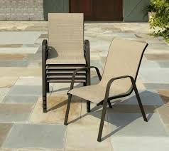 hampton bay stackable sling outdoor dining chair interesting slingback patio chairs with patio chairs horizon stacking