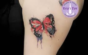 Tatuaggio Farfalla Watercolor Butterfly Tattoo Tatuaggio Watercolor