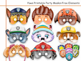 Dog Birthday Decorations Unique Paw Patrol Printable Masks Party Masks Birthday