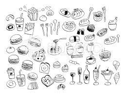 食べ物イラスト素材線画イラスト No 1015670無料イラストなら
