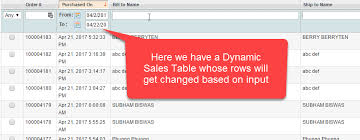 handling dynamic web tables using