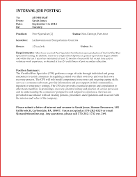 Luxury Application Letter For Internal Job Posting Robinson