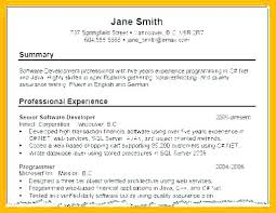 Resume Profile Summary Examples