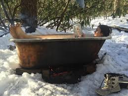 wood fired bathtub