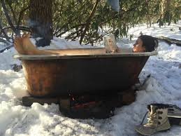 wood fired bathtub