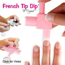 2 pack: French Tip Dip French Manicure Supplies Kit Use any nail ...