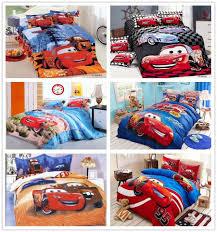 kids cars lightning mcqueen bedding bed linen set with cartoon duvet comforter cover flat sheet pillowsham home textile bedding for teens bedding for girls