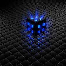 22+] Black And Blue 3D Cube Wallpapers ...
