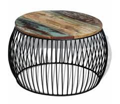 vidaxl coffee table round solid