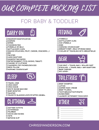 list for traveling my guide to traveling with kids our complete packing list