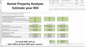 Excel Roi Template Investment Property Calculator Excel Spreadsheet