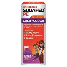 Childrens Sudafed Pe Cold Cough Sudafed