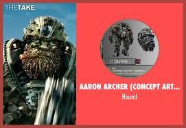 goodman transformer. aaron archer (concept artist) hound from transformers: the last knight seen with john goodman transformer