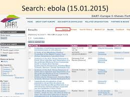 dart europe e theses portal european portal for the discovery of  8 search ebola 15 01 2015 8 15