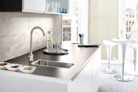 interesting water the grohe blue mono faucet has all of the features chilled and sparkling model but without unfiltered hot cold water tap making it a good