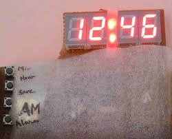 picture of digital clock using microcontroller at89s52 without rtc circuit