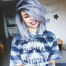 Cute Blue Grey Dyed Hairstyle With