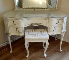 french painted antique dressing table