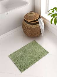 spaces exotica green drylon rectangular bath rug