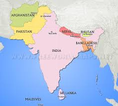 South asian countries map