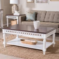 White Coffee Table And End Tables Belham Living Jocelyn Coffee Table White Walnut Hayneedle