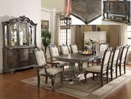 7 pc kiera grey formal dining room set