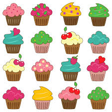 birthday cupcakes clipart.  Cupcakes Popular Items For Cupcake Clip Art On Etsy Inside Birthday Cupcakes Clipart
