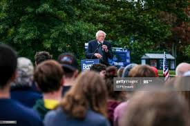 Vermont senator and presidential candidate Bernie Sanders campaigns... News  Photo - Getty Images