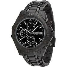 accurist chronograph black dial ip black stainless steel bracelet accurist chronograph black dial ip black stainless steel bracelet mens watch mb837