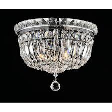elisa chrome and crystal flushmount chandelier pertaining to brilliant house crystal flush mount chandelier prepare