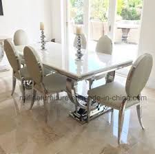 china modern chrome snake skin white leather crushed velvet dining chair with oval back for cream marble table stainless steel china dining chair