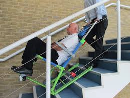 emergency stair chair. Excel Evacuation Chair Evacuating Male Adult Down Stairs Emergency Stair D