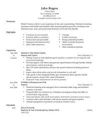 Hostess Resume Stunning Best Host Hostess Resume Example LiveCareer
