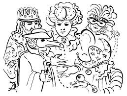 Small Picture Five Common Characters in Mardi Gras Parade Coloring Page