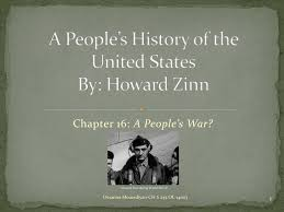 Ppt A Peoples History Of The United States By Howard Zinn