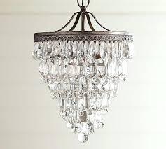 glass crystal chandelier drop small round pottery barn celeste chrome 32
