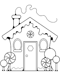 gingerbread house clipart black and white. Delighful White Gingerbread House Coloring Page Intended Clipart Black And White E